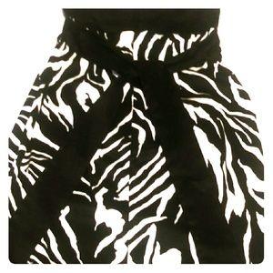 Strapless Zebra print dress